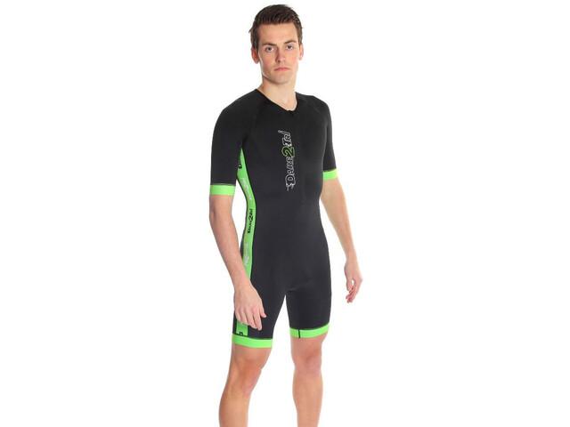 Dare2Tri Coldmax Combinaison de triathlon à manches courtes Homme, black/green